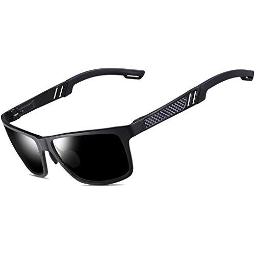 ATTCL® 2016 Wayfarer Stil Polarisierte Fahren Sonnenbrille Herren Damen 16560black