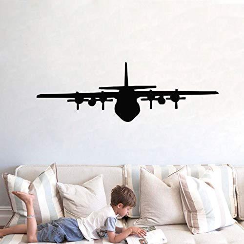Airplane Vinyl Wall Window Decal Sticker,Aircraft Wall Art Decor White 54x18 cm