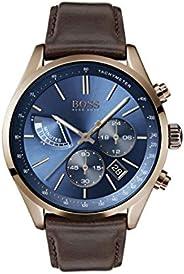 ساعة يد للرجال من هوغو بوس بحركة كوارتز وعرض كرونوغراف وسوار جلدي 1513604