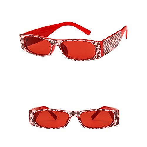 VRTUR Brille Diamond Retro-Brille Für Damen der 1950er Jahre eckige Vintagebrille für Karneval Party Kostüm(One size,F)