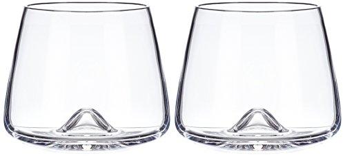 Normann Copenhagen 120910 Whiskeyglas 2-er Set, Höhe: 8,2 x Durchmesser: 7,3 cm, 30 cl