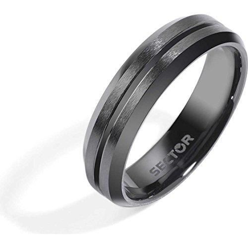 anello uomo gioielli Sector Ceramic misura 21 classico cod. SLI80021