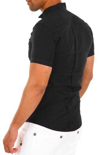 Carisma Kurzarmhemd - in 2 Farben Schwarz