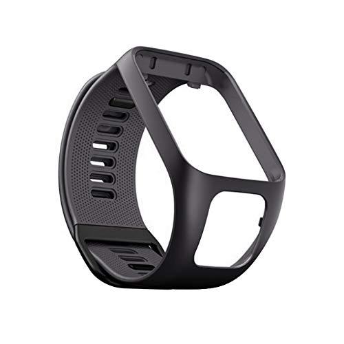 QHJ Armband Für Tomtom Adventurer/Runner 2 3 / Spark 3,Ersatz Silikon Band Strap für Tomtom Adventurer/Runner 2 3/Spark 3 (Grau)