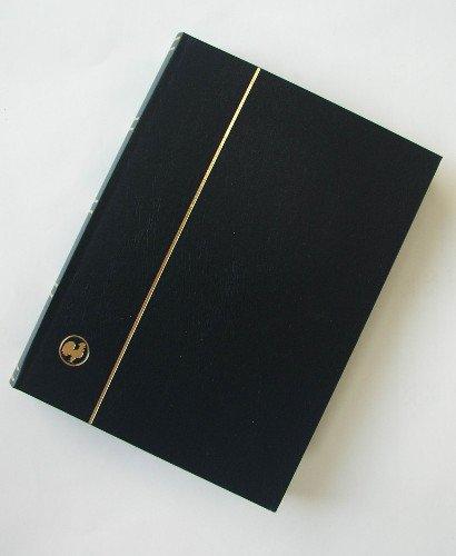 GOLDHAHN-Luxus-60 schwarze Seiten A4 Briefmarkenalbum Einsteckbuch schwarzer Einband