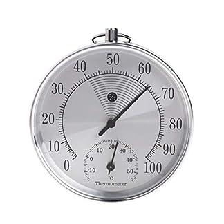 RETYLY Termómetro Exterior Para Interiores Higrómetro Temperatura Humedad Medidor Metálico Ht9100 L15