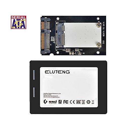 ELUTENG mSATA auf SATA für 30x50mm m-SATA SSD Festplatten mSATA auf 2,5 Zoll SATA Adapter 6Gbps mini SATA Converter Case 2.5 für Notebook / Laptop / Desktop-PC