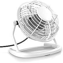 CSL - Ventilador USB | ventilador de mesa/ventilador | PC/portátil | en blanco