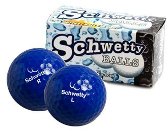 Schwetty Kugeln blau Paar (inkl. 2Golf Bälle) -
