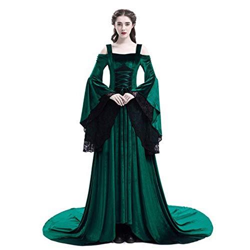 hhalibaba Cosplay Halloween Kleid Mittelalterlichen Palast Prinzessin Kleid Erwachsene Damen Gothic Königin 2019 Plus Größe 4XL Party Halloween - Prinzessin Für Erwachsene Kostüm Plus