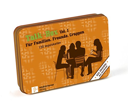 Talk-Box Vol. 1 - Für Familien, Freunde und Gruppen. 120 Fragekarten in Metalldose (Weihnachten Für Christliche Erwachsene Spiele)