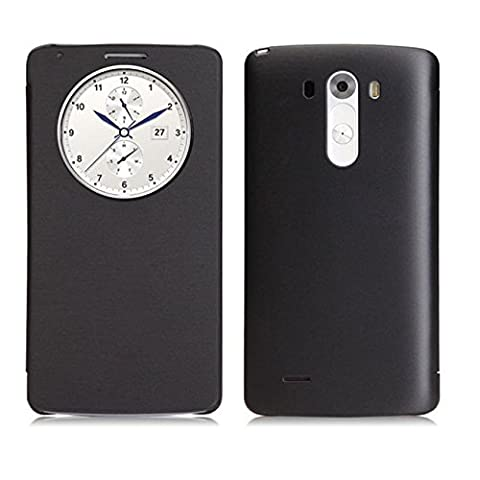anizun (TM) Hot Verkauf New Slim Quick Circle Fenster Leder Flip Schutzhülle für LG G3D850D855VS985Nice