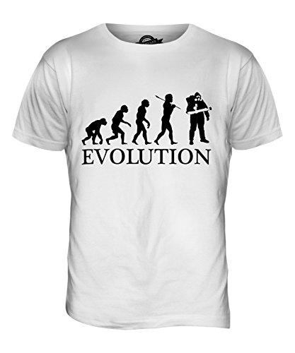 CandyMix Schädlingsbekämpfung Evolution Des Menschen Herren T Shirt Weiß