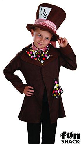 Poco Mad Hatter / Alice in Wonderland - Bambini Costume - Medium - 124 centimetri - Age 6-8