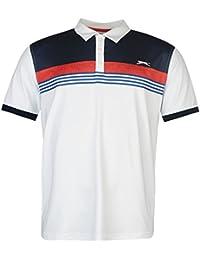 Slazenger Homme Imprimé Polo Shirt T-Shirt Tee Top Haut Sport Manche Courte