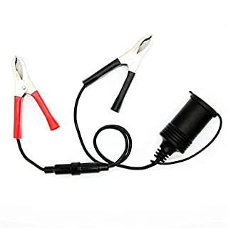 Minzhi 12V Auto-Batterieklemme Clip-on-Zigarre Zigarettenanzünder-Buchse Adapter-Stecker für Auto-Boots-Motorrad