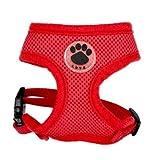Generic Paw Gummi-Hundegeschirr, verstellbar, weich, atmungsaktiv, für Katzen, Nylon-Netzgewebe, für Welpen, weicher Brustgurt