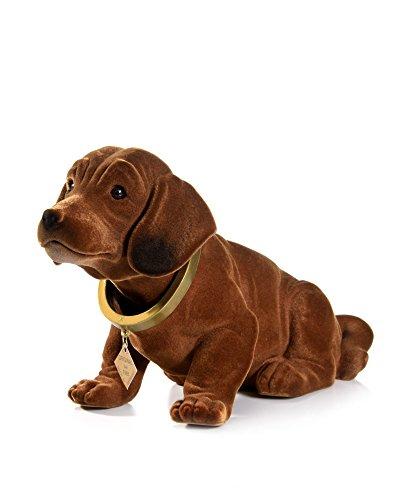 myHomery Wackeldackel original - Wackelfiguren fürs Auto - Hund mit Wackelkopf - Dackel als Wackelhund - Wackel Hund in groß und klein - 19cm & 29cm Braun | 19cm