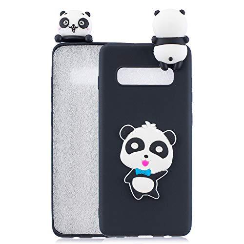 Rose-Otter Kompatibel für Samsung Galaxy S10 Hülle Handyhülle Silikon TPU Ultra Dünn Slim Stoßfest Bumper Schutzhülle Tasche Case Cover mit 3D Muster - Panda Blau Butterfly -