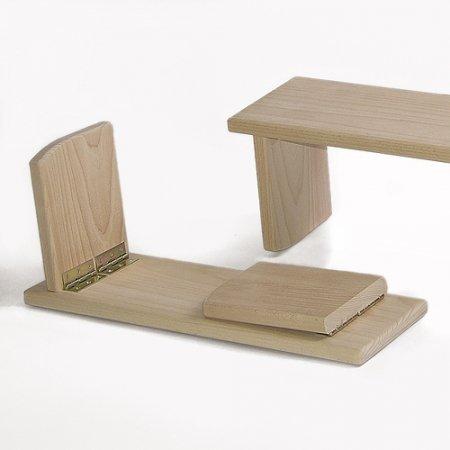 Meditationsbank Comfort Travel - klappbar, 19 cm hoch