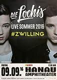 Die Lochis - Zwilling 2016 - Konzertplakat, Konzertposter