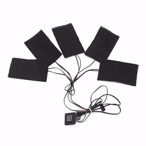 HATCHMATIC 1 Satz USB-elektrische erhitzt et Heizkissen Außen Themal warme Winter Heizung Vest-Pads für DIY Beheizte Kleidung: 5-in-1, China