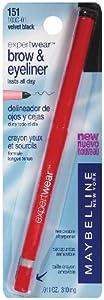 Maybelline New York Expert Wear Brow & Eyeliner, 151 Velvet Black , .011 oz (310 mg)