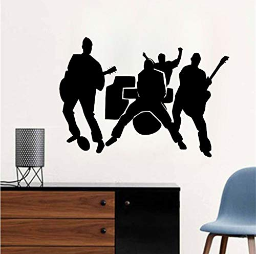 Dalxsh Musik Wandtattoo Rock Band Vinyl Teenager Zimmer Diy Moderne Wandaufkleber Jungen Mädchen Cool Removable Home Fashion Decor 45X60 Cm