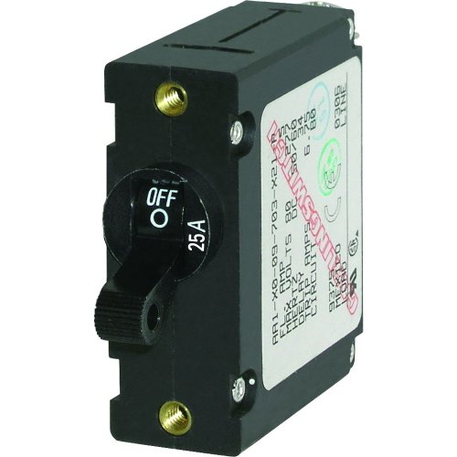 Single-circuit Lighting System (Blue Sea 7216 AC/DC Single Pole Toggle magnetisch World Circuit Breaker - 25 Amp)