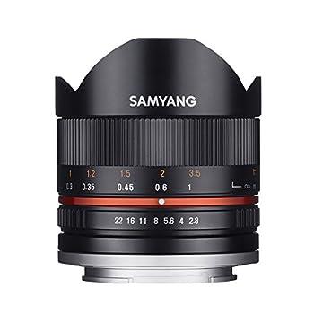 Samyang 8 mm F2.8 II Fisheye Manual Focus Lens for Sony-E - Black