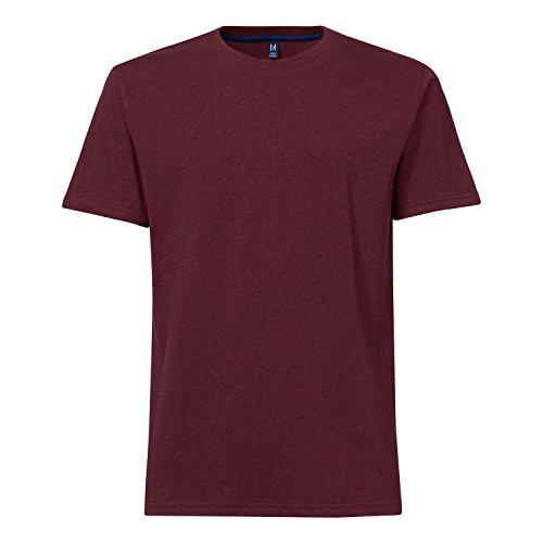 THOKKTHOKK Herren T-Shirt Dunkelrot Bio Fair, Größe:XL -
