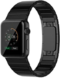 Apple watch Correa Series 3 Series 2 Series 1 Correa Reemplazo Para Apple Watch 42mm Correa de Acero Inoxidable Reemplazo de Banda 42mm Negro