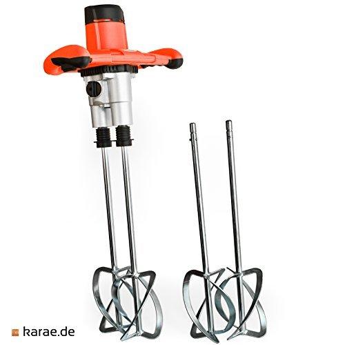 Preisvergleich Produktbild Rührgerät starke 1800 Watt, 4 Quirlen! Rührer Handrührgerät Beton Mischer Mörtelmischer Rührwerk