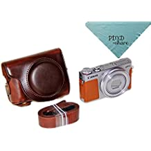 PDXD-share Funda Bolsa Protector PU cuero Cámaras Réflex Para Canon PowerShot G9 X Compactas