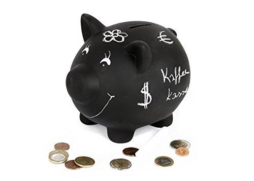 um Beschriften, Sparschwein XXL für Kinder und Erwachsene, Sparbüchse mit Kreide, Sparbox sparen lernen Urlaub Hochzeit Taufe (Ein Stück Piggy Bank)