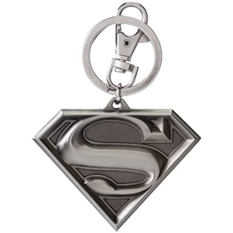 Superman Logo Portachiavi - Logo Ufficiale Pendente Logo A Pendente