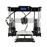 ZHQEUR Anet A8 M Haute Précision Bureau 3D Imprimante Reprap I3 DIY Auto-Assemblage MK8 Extrudeuse Buse Acrylique Cadre LCD Écran Imprimante 3D