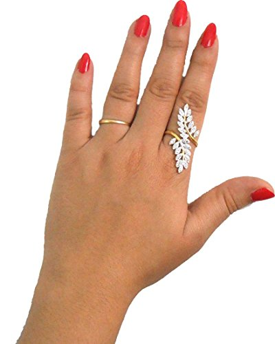 Jdx Gold Plated American Adjustable Diamond Ring for Women