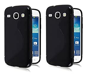 S LINE Anti Skid Gel TPU Slim Soft Case Cover for Samsung Galaxy Core I8260 (Value for Money Set of 2)