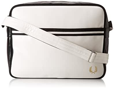 Fred Perry Classic Shoulder Bag in White and Black