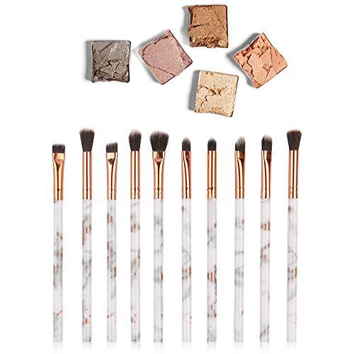 kingko® 10pcs Multifonctionnel Pinceau de Maquillage correcteur d'ombres à paupières Pinceau Pinceau Outil de Maquillage Kit de Toilette Set de Brosse (Multicolor)