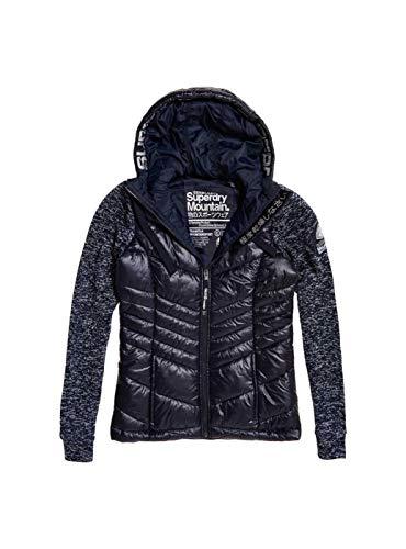 Superdry Damen Jacke SD Storm Shine Zip Hoodie Kapuzenjacke Übergangsjacke Navy Blizzard Marl XL