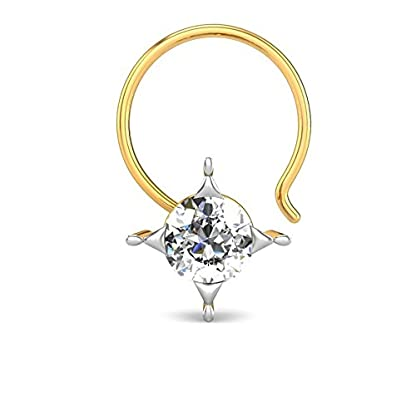 Candere By Kalyan Jewellers Trupti 18k Yellow Gold and Diamond Nosepin