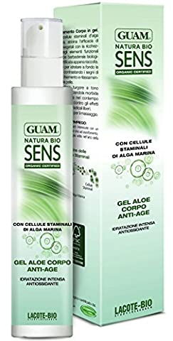 Guam Gel Sens anti-âge Bio pour le corps à l'aloe vera et acide hyaluronique 200ml