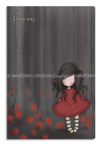 Santoro-Eclectic-Agenda tascabile 2013-Papaveri, importato Regno Unito)