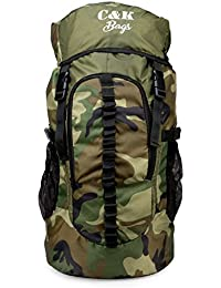Chris & Kate Large Army Green Camouflage Bag || Travel Backpack || Outdoor Sport Camp Hiking Trekking Bag || Camping Rucksack Daypack Bag (45 litres)(CKB_186LL)