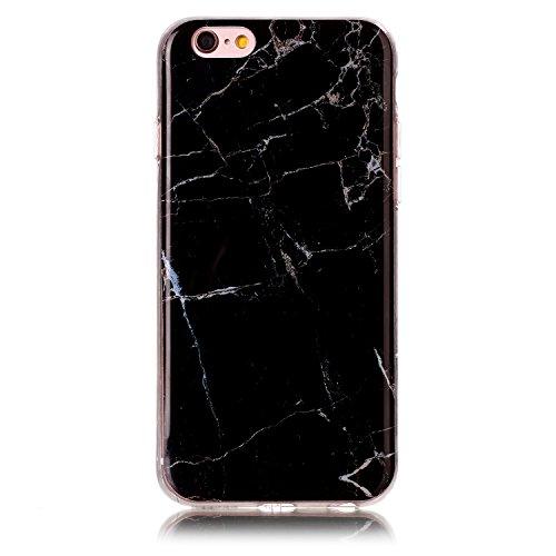 custodia silicone traslucida iphone 6 nero