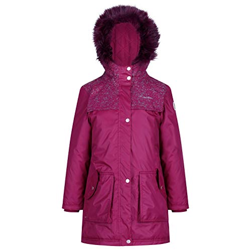 Regatta Kinder Halimah Waterproof and Breathable Insulated Reflective Parka Jacke,Rot...