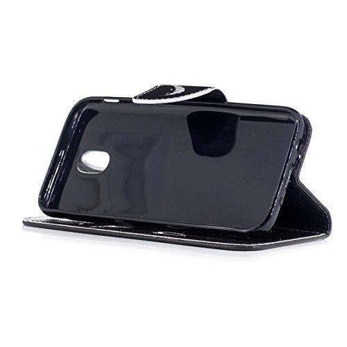 Custodia Galaxy J3 2017, ISAKEN Flip Cover per Samsung Galaxy J3 2017, Elegante borsa Bookstyle Design Flip Caso in Sintetica Ecopelle PU Pelle Protettiva Portafoglio Wallet Case Cover con Supporto di Don't Touch My Phone