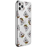 Oihxse Compatible con iPhone 11 Funda Cristal Silicona TPU Suave Ultra-Delgado Protector Estuche Creativa Patrón Protector Anti-Choque Carcasa Cover(Pereza A5)